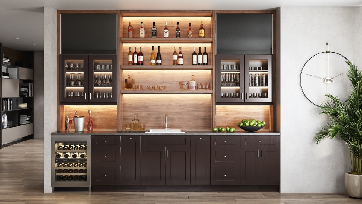 Wine bottle cabinet