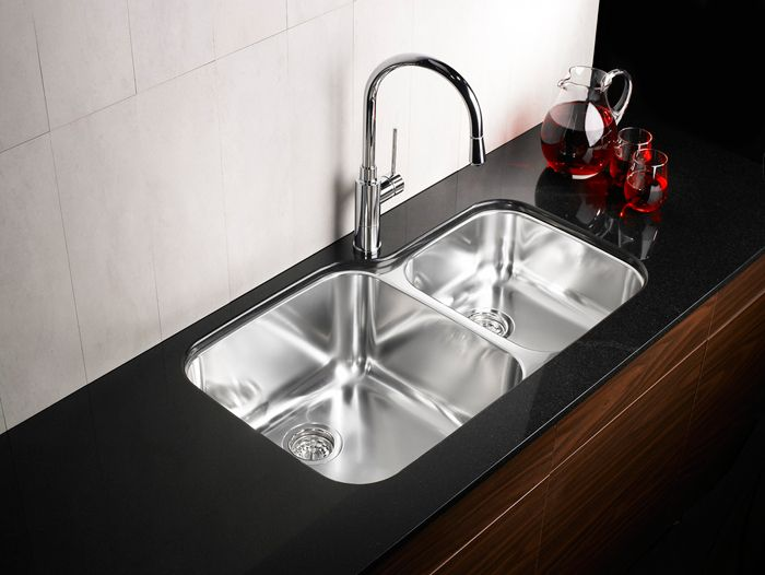 double steel sink