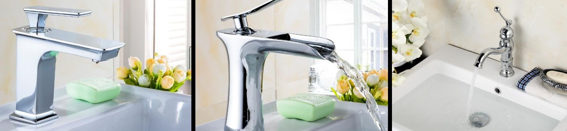 view of various faucet designs