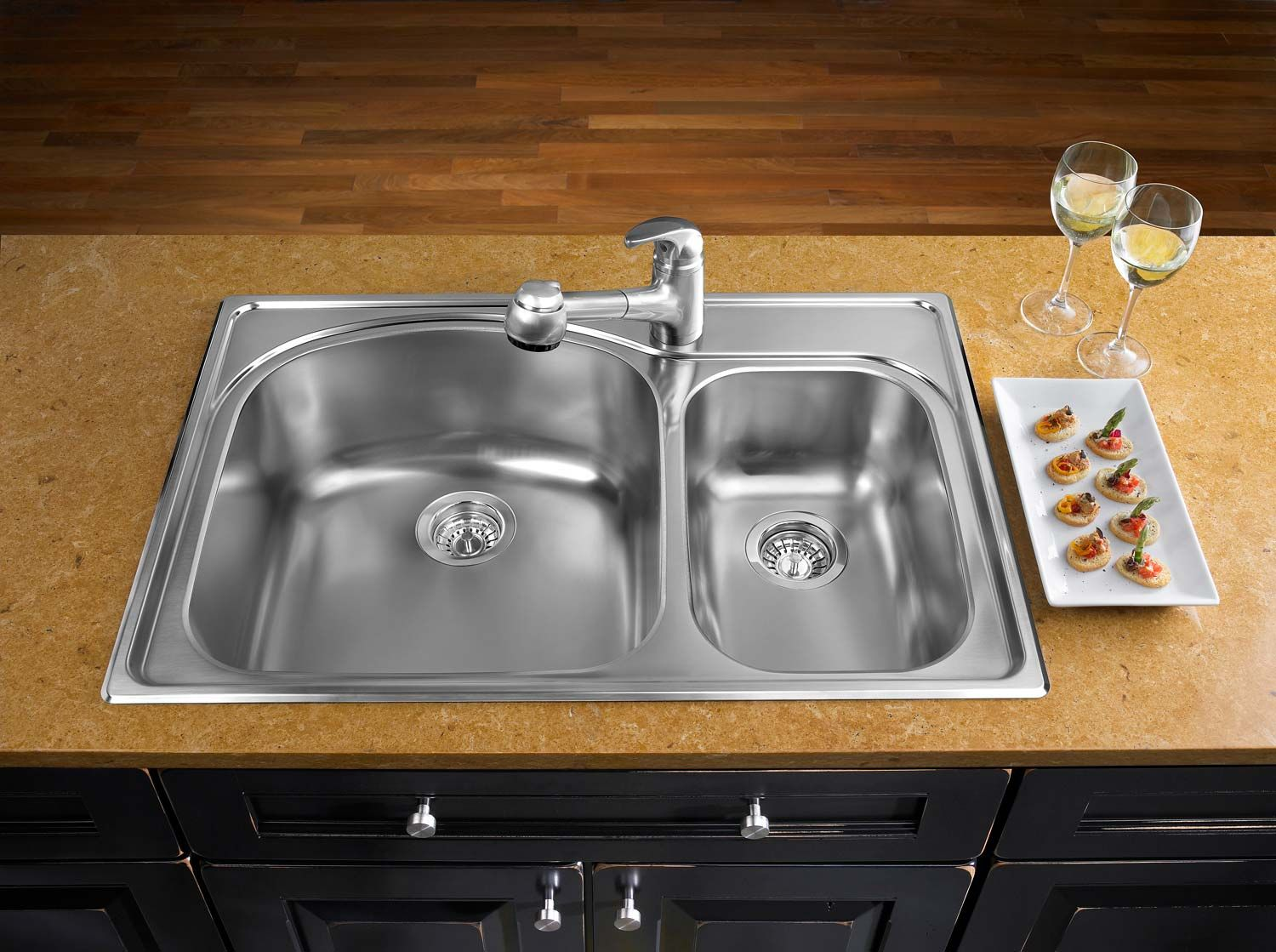 view of a stainless steel sink