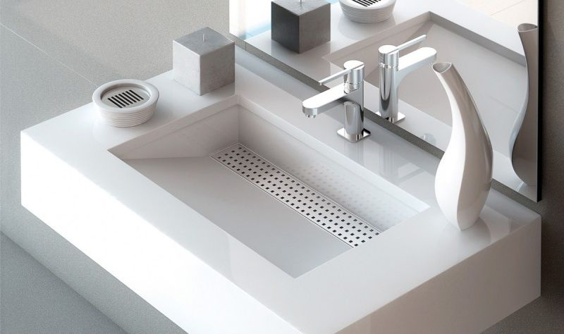 top view of a sink